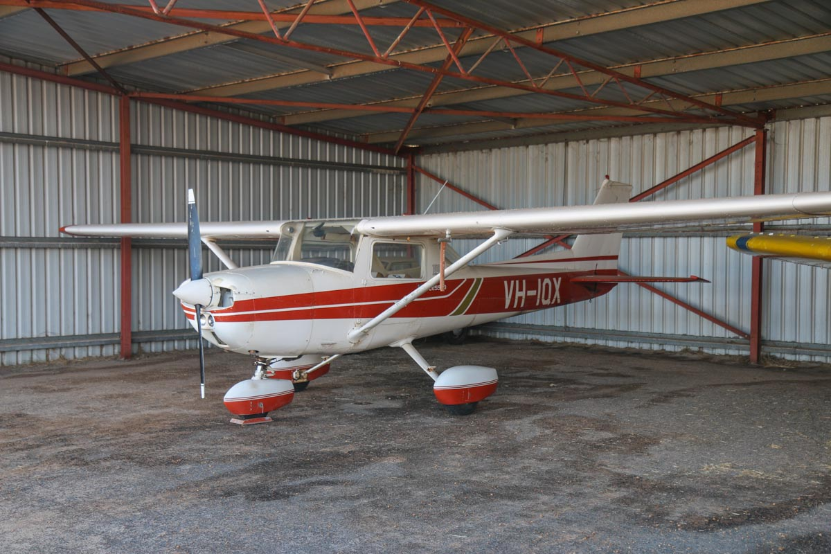VH-IQX Cessna 150 Commuter (MSN 15075547) owned by Ian Newman, at Bunbury Airport – Fri 9 May 2014. Photo © David Eyre