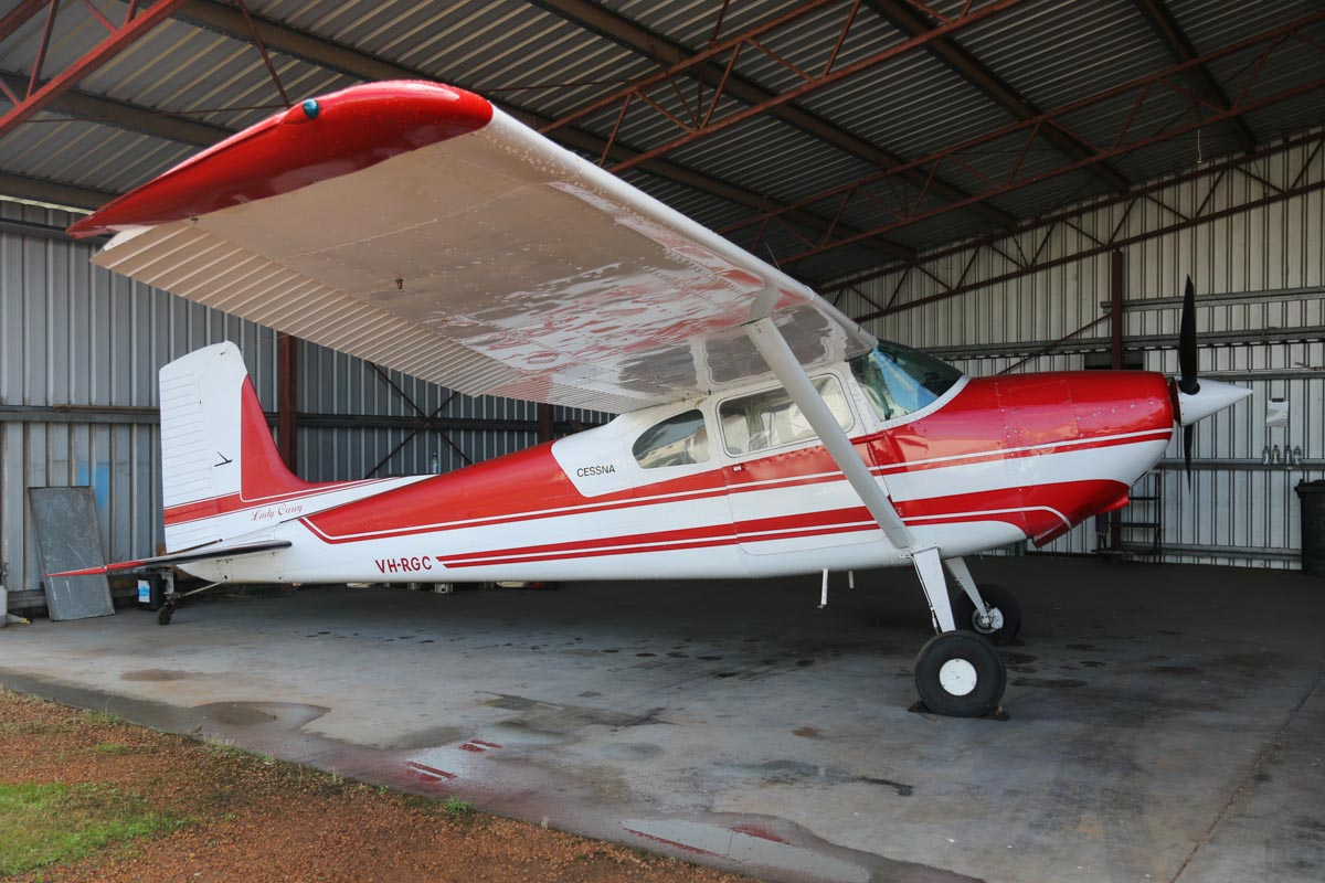 VH-RGC Cessna 180 Skywagon (MSN 32450) owned by Stanley Haoust, named 'Lady Casey', at Bunbury Airport – Fri 9 May 2014. Photo © David Eyre