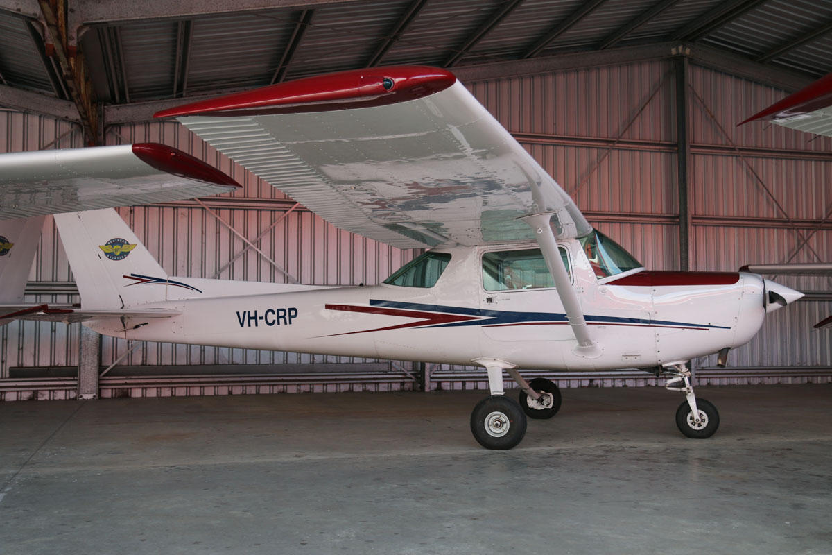VH-CRP Cessna 152 (MSN 15283363), owned by Southern Aviation/Bunbury Flying School, at Bunbury Airport – Fri 9 May 2014. Photo © David Eyre