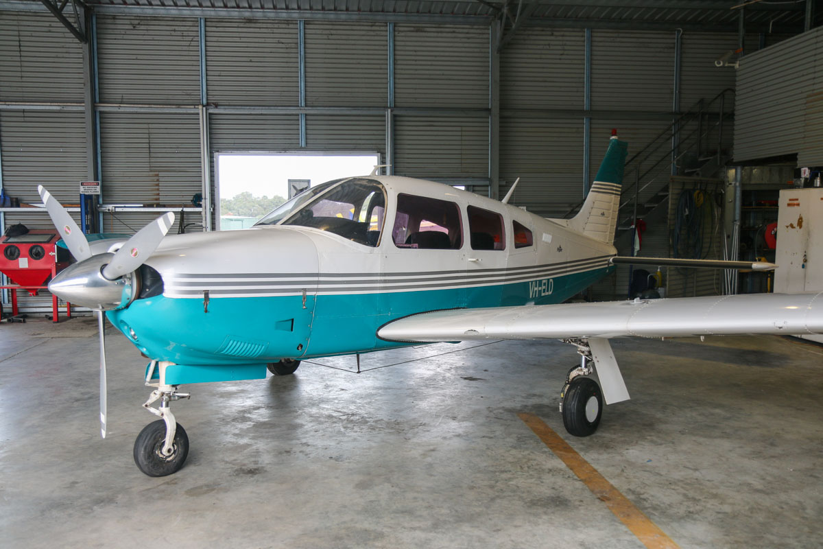 VH-ELD Piper PA-28R-200 Arrow II (MSN 28R-7535048) owned by Safe Crane Services Pty Ltd at Bunbury Airport – Fri 9 May 2014. Photo © David Eyre