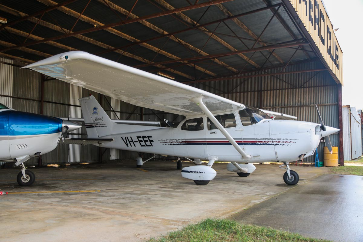 VH-EEF Cessna 172R Skyhawk (MSN 17280171) owned by Bunbury Aero Club at Bunbury Airport – Fri 9 May 2014. Photo © David Eyre