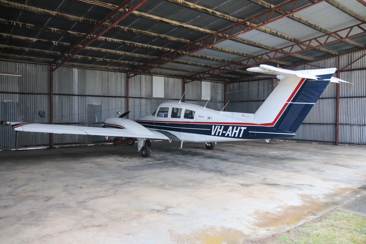 VH-AHT Beech Duchess 76 (MSN ME-132) owned by Bunbury Aero Club Inc, at Bunbury Airport – Fri 9 May 2014. Photo © David Eyre