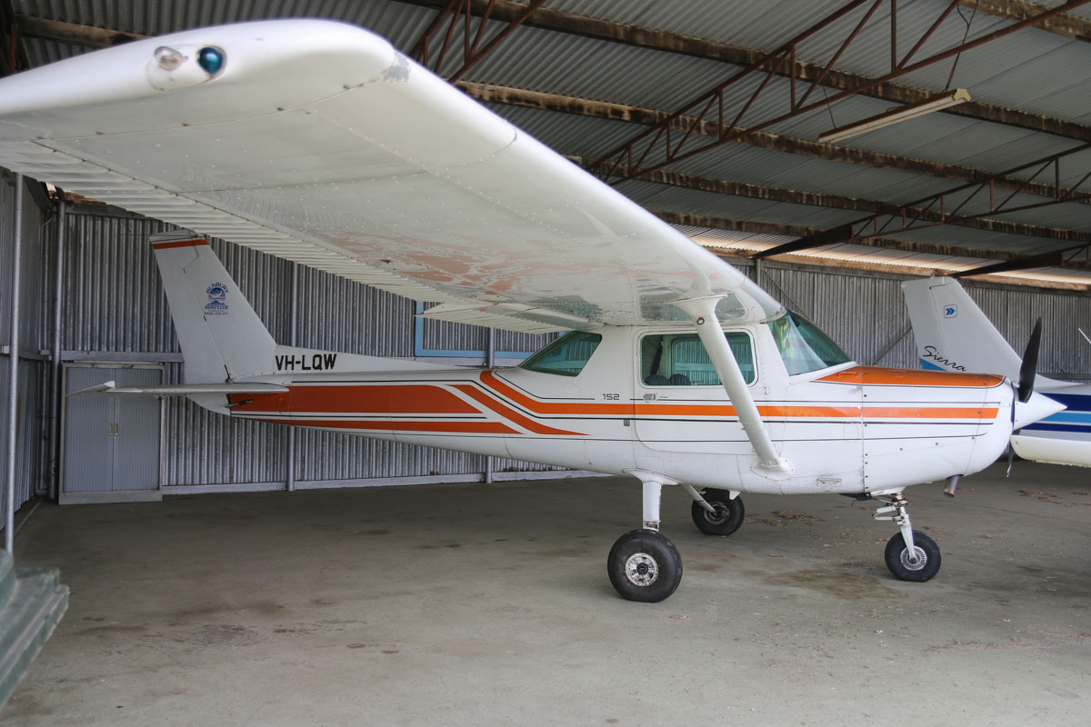 VH-LQW Cessna 152 (MSN 15285956) owned by Bunbury Aero Club Inc, at Bunbury Airport – Fri 9 May 2014. Photo © David Eyre
