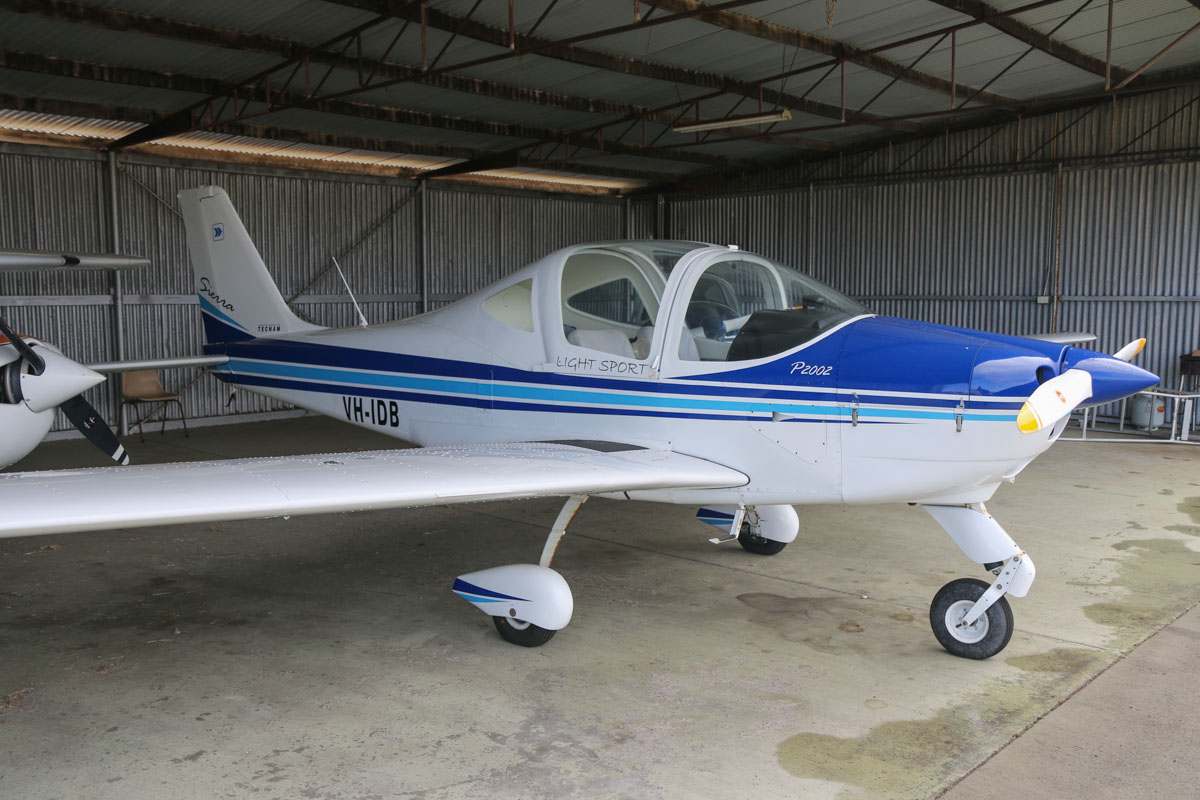 VH-IDB Tecnam P2002 Sierra (MSN 318) owned by Bunbury Aero Club Inc, at Bunbury Airport – Fri 9 May 2014. Photo © David Eyre