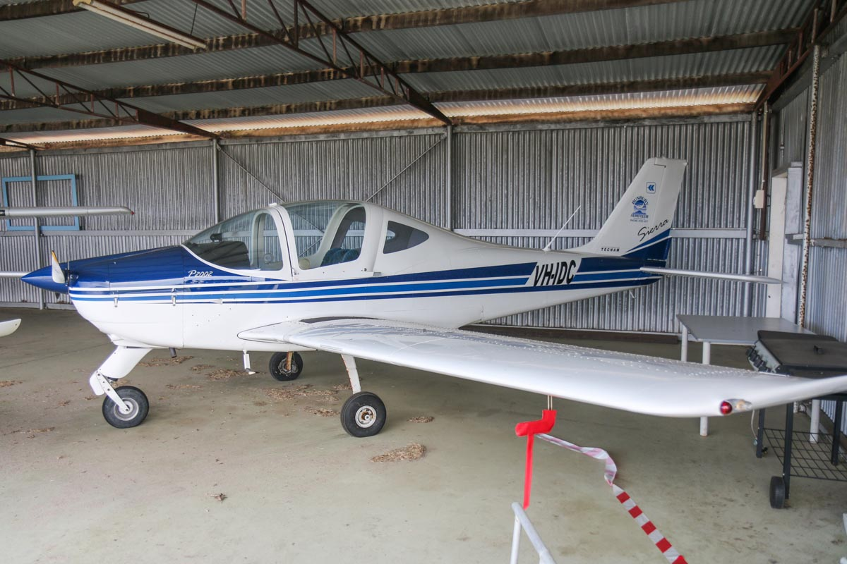VH-IDC Tecnam P2002 Sierra (MSN 208) owned by Bunbury Aero Club Inc, at Bunbury Airport – Fri 9 May 2014. Photo © David Eyre