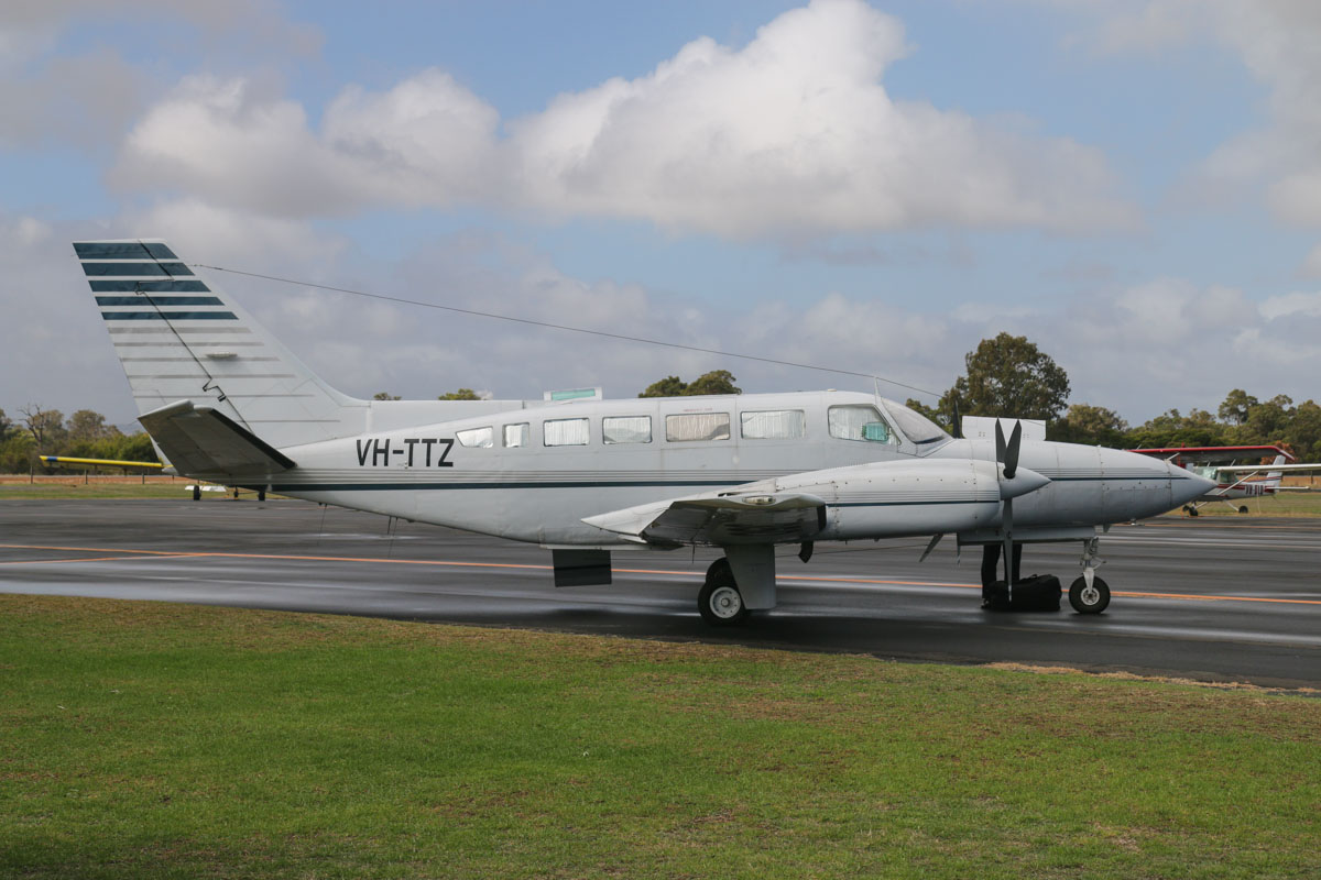 VH-TTZ Cessna 404 Titan (MSN 4040095) operated by Interair Pty Ltd, Essendon, VIC, at Bunbury Airport – Fri 9 May 2014. Photo © David Eyre