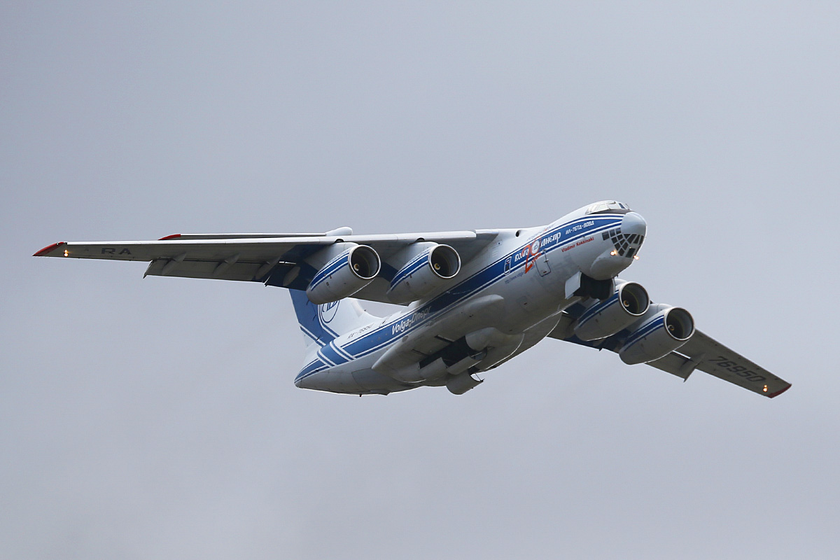 RA-76950 Ilyushin IL-76TD-90VD (MSN 2053420697) of Volga-Dnepr Airlines, named 'Vladimir Kokkinaki', at Perth Airport – Fri 9 May 2014. Photo © Keith Anderson