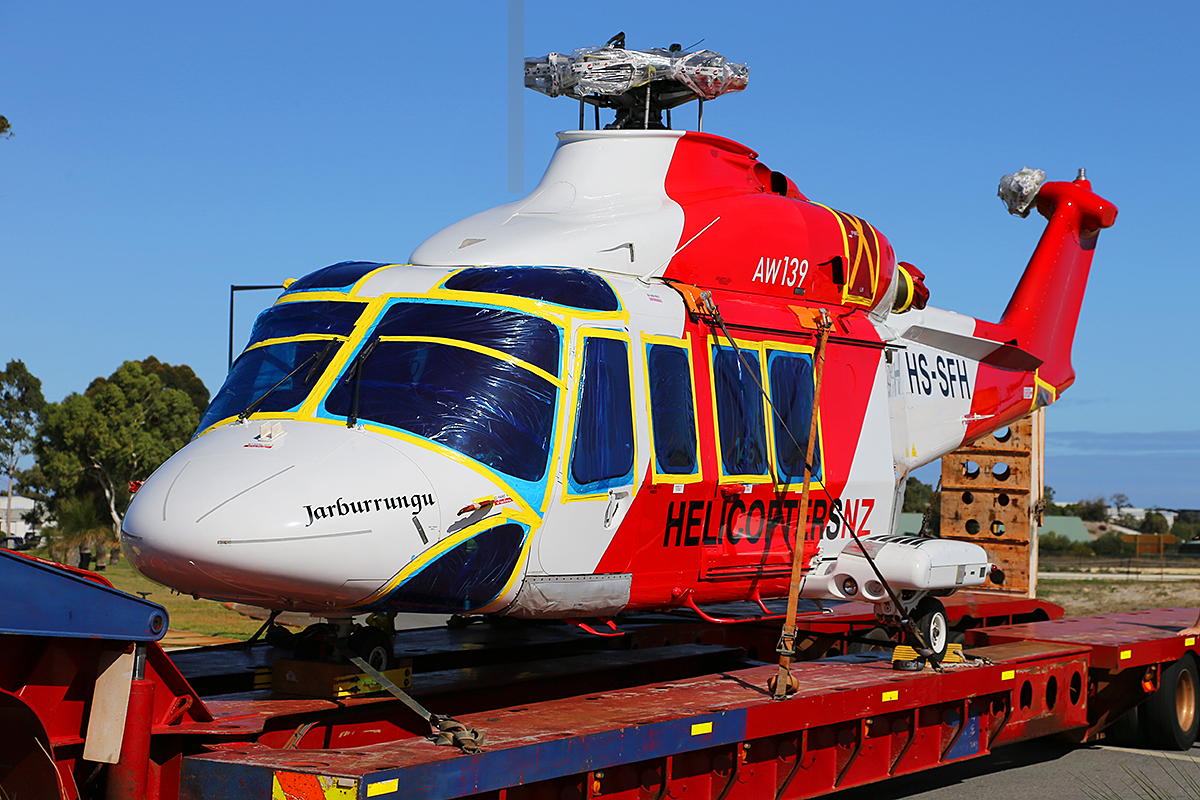 HS-SFH AgustaWestland AW139 (MSN 31146) owned by Helicopters NZ, at Jandakot Airport – Mon 12 May 2014.