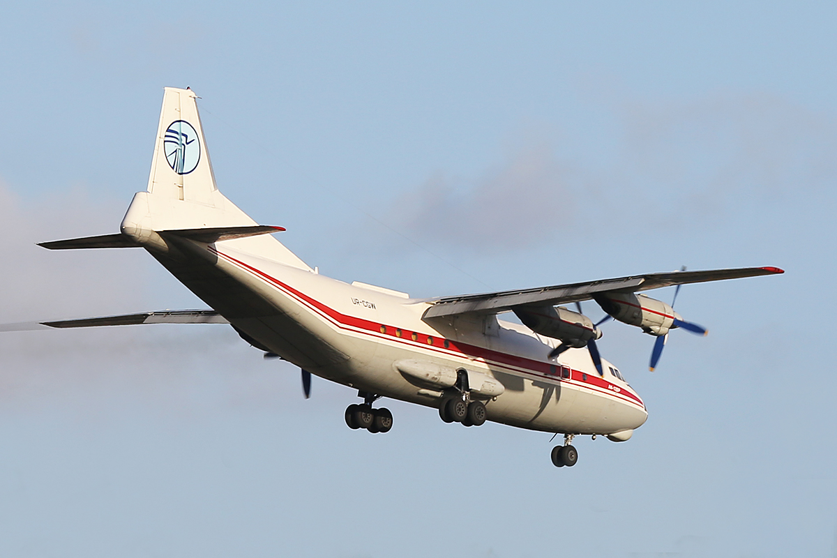 UR-CGW Antonov An-12BP (MSN 402410) of Ukraine Air Alliance, at Perth Airport – Tue 13 May 2014.