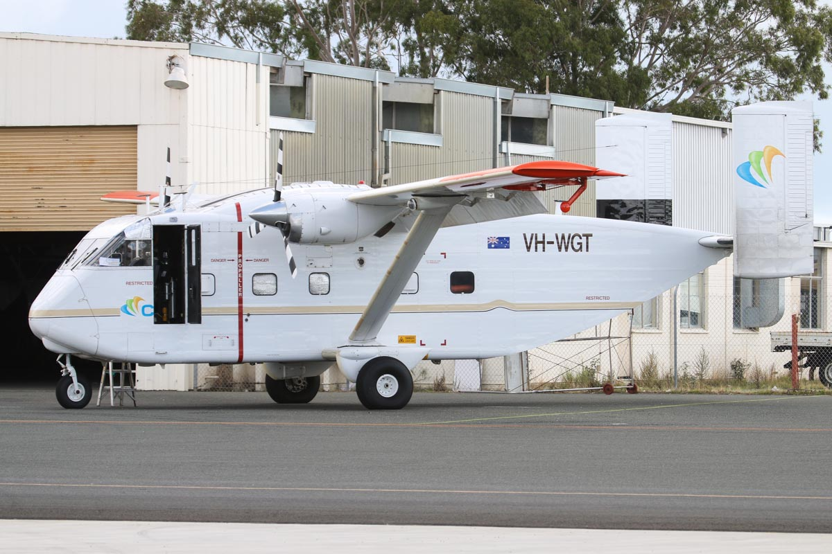 VH-WGT Shorts SC-7 Series 3M-100 Skyvan (MSN SH.1960) of CGG Aviation (Australia) Pty Ltd at Jandakot Airport – Sat 17 May 2014. Photo © David Eyre