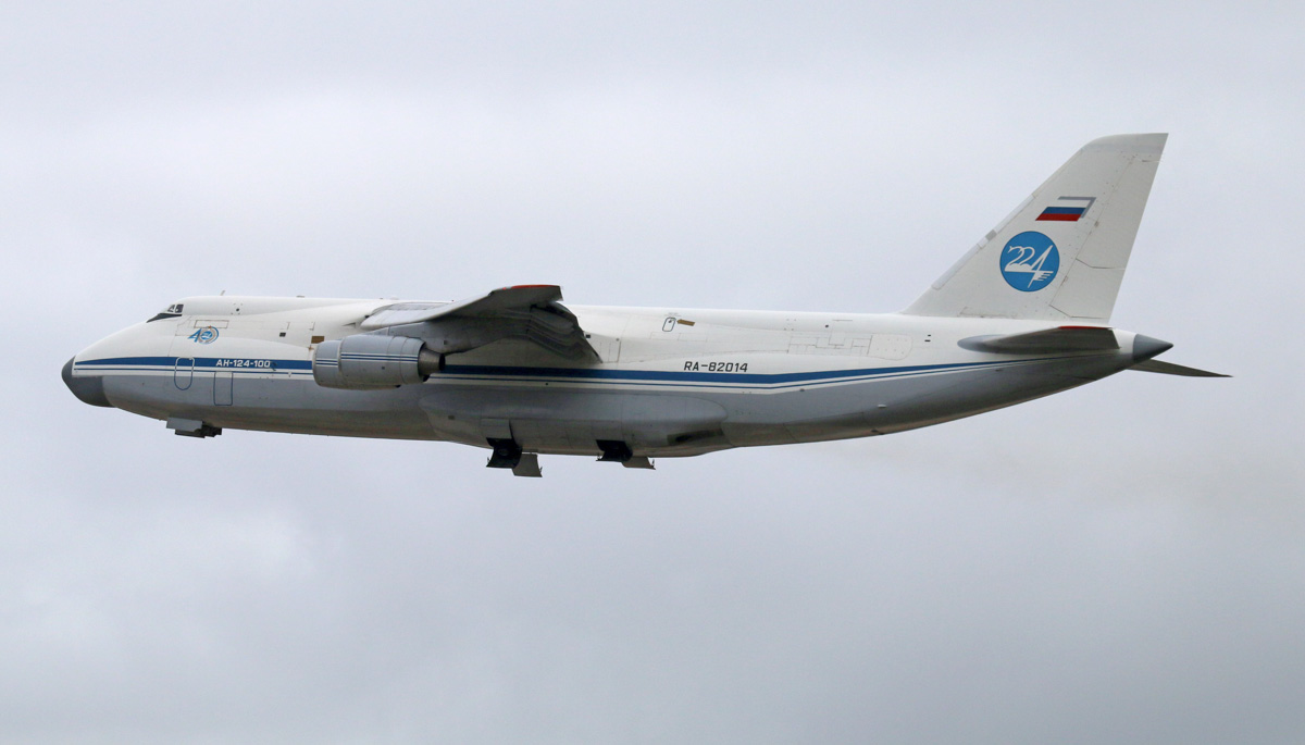RA-82014 Antonov An-124-100 Ruslan (MSN 9773054732039 / 05-03) of the 224th Flight Unit, Russian Air Force, at Perth Airport - Mon 26 May 2014. Photo © Steve Jaksic