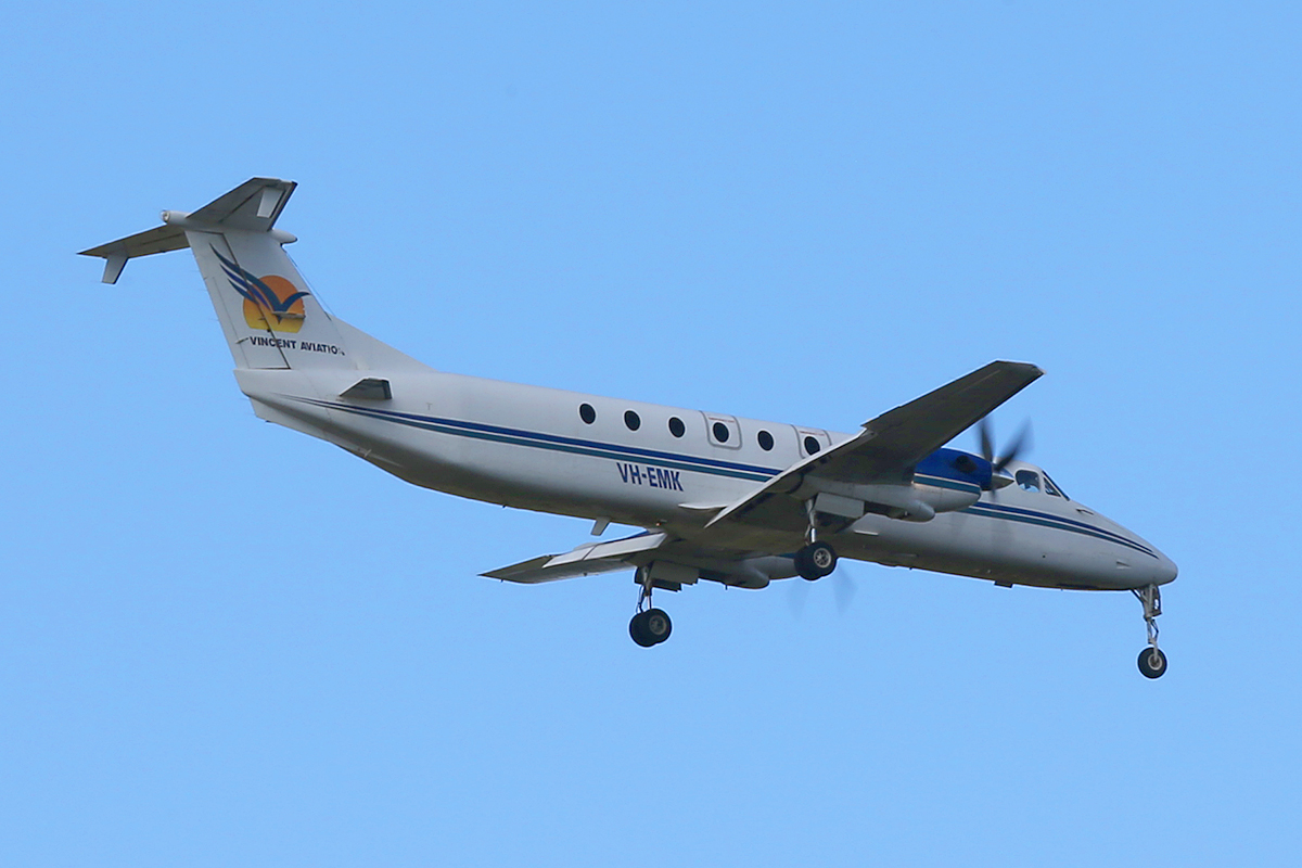 VH-EMK Beech 1900C (MSN UC-159) of Vincent Aviation, at