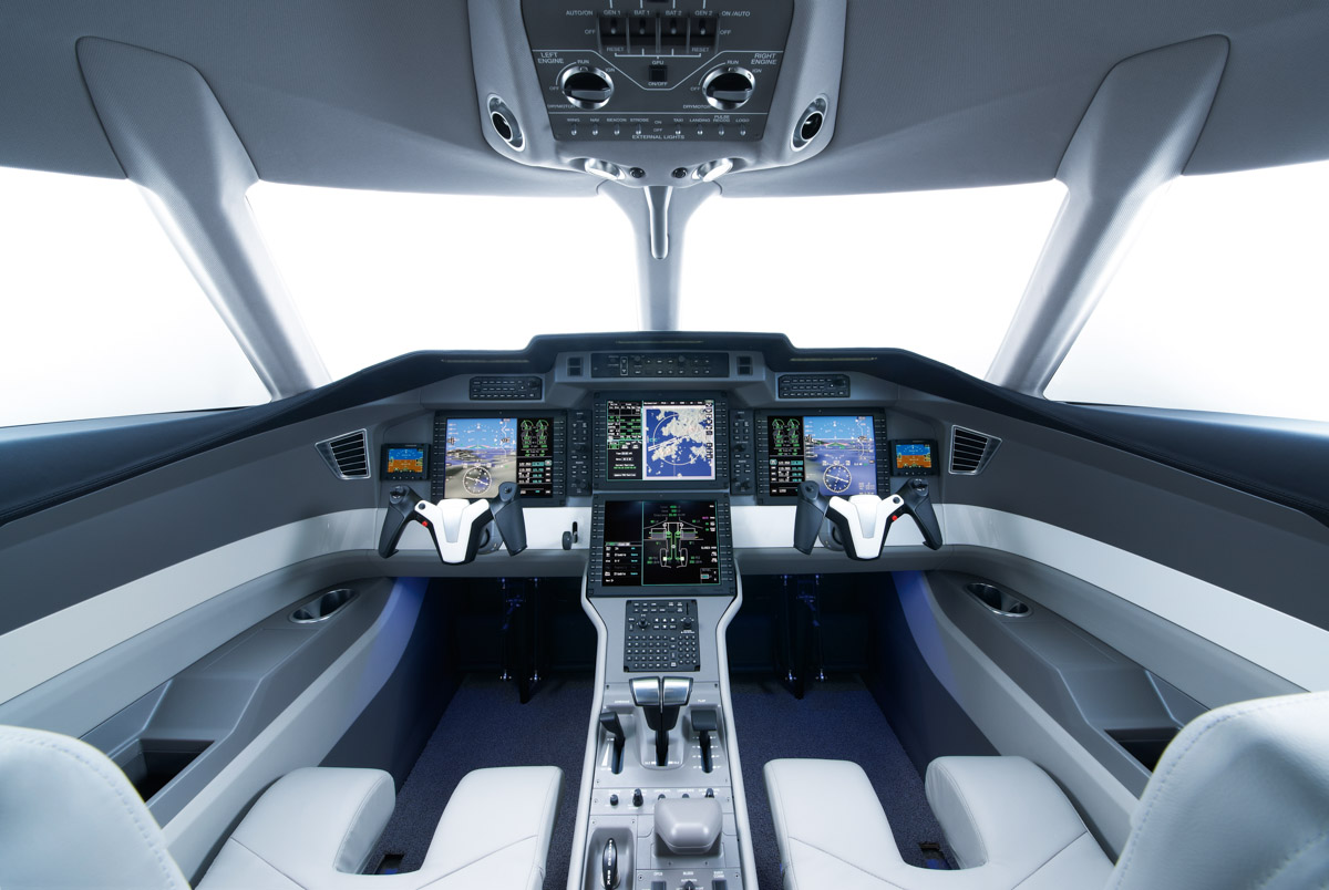 Pilatus PC-24 cockpit. Artist's impression copyright © 2014 Pilatus Aircraft