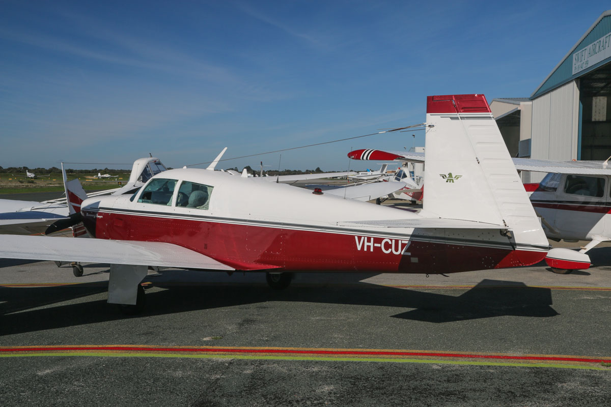VH-CUZ Mooney M20C Ranger (MSN 20-0031) owned by Clinton Brown, at Jandakot Airport – Fri 30 May 2014. Photo © David Eyre