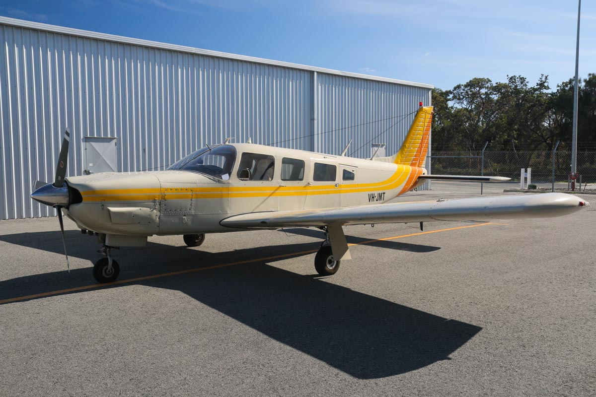VH-JMT Piper PA-32R-300 Cherokee Lance (MSN 32R-7780207) owned by Angus K James, at Jandakot Airport – Fri 30 May 2014. Photo © David Eyre