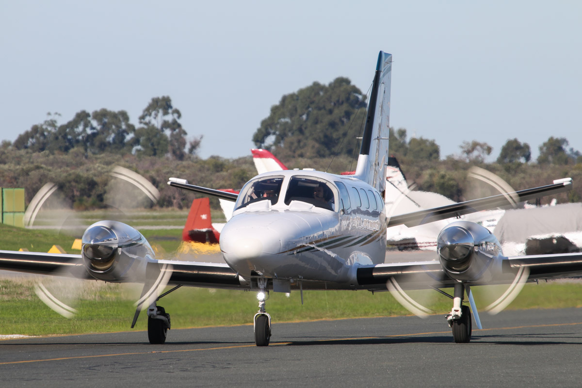 VH-LWY Cessna 441 Conquest (MSN 441-0262) of Corsaire Pty Ltd, at Jandakot Airport – Fri 30 May 2014. Photo © David Eyre