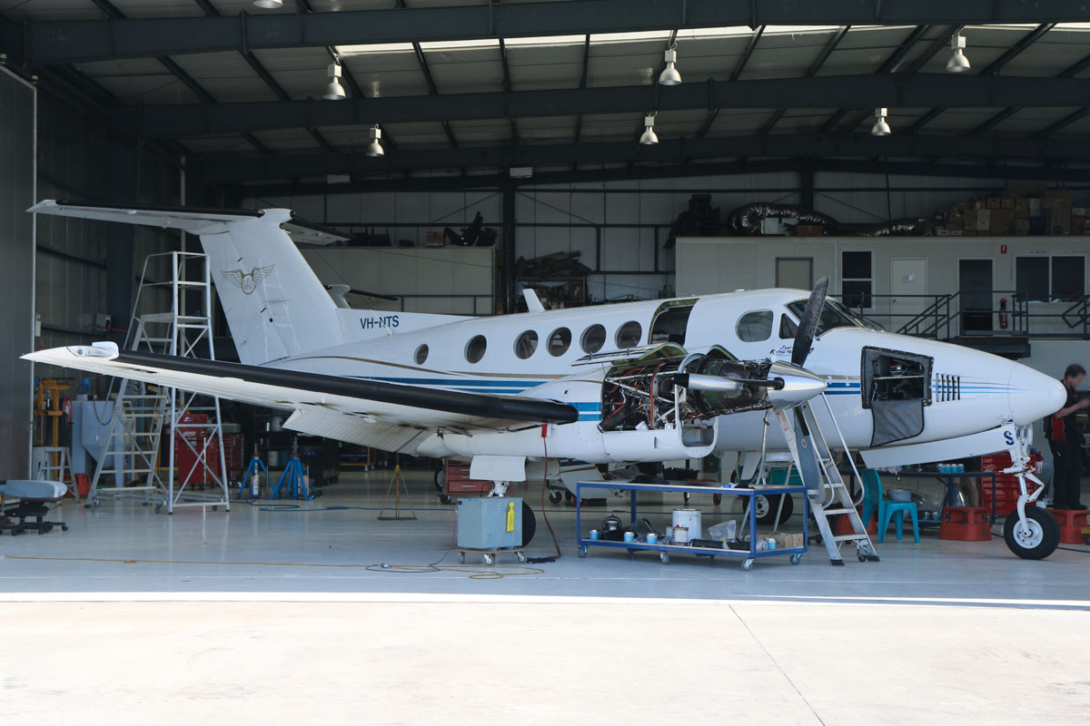 VH-NTS Beech King Air 200C (MSN BL-30) operated by Goldfields Air Services (GAS), at Jandakot Airport – Fri 30 May 2014. Photo © David Eyre