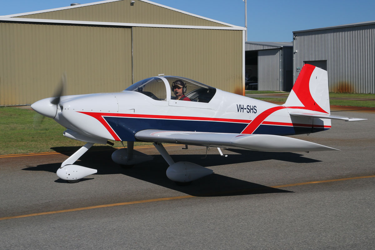 VH-SHS Vans RV-6A (MSN W255) owned by Gray Marshall, at Jandakot Airport – Fri 30 May 2014. Photo © David Eyre