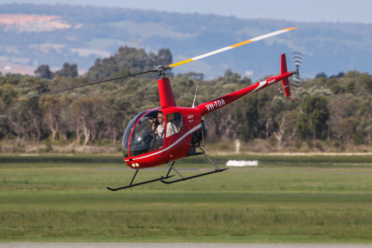 VH-TDA Robinson R22 Beta II (MSN 4584) of Rotorvation Helicopters (Heysen Gums Pty Ltd), at Jandakot Airport - Fri 30 May 2014. Photo © David Eyre
