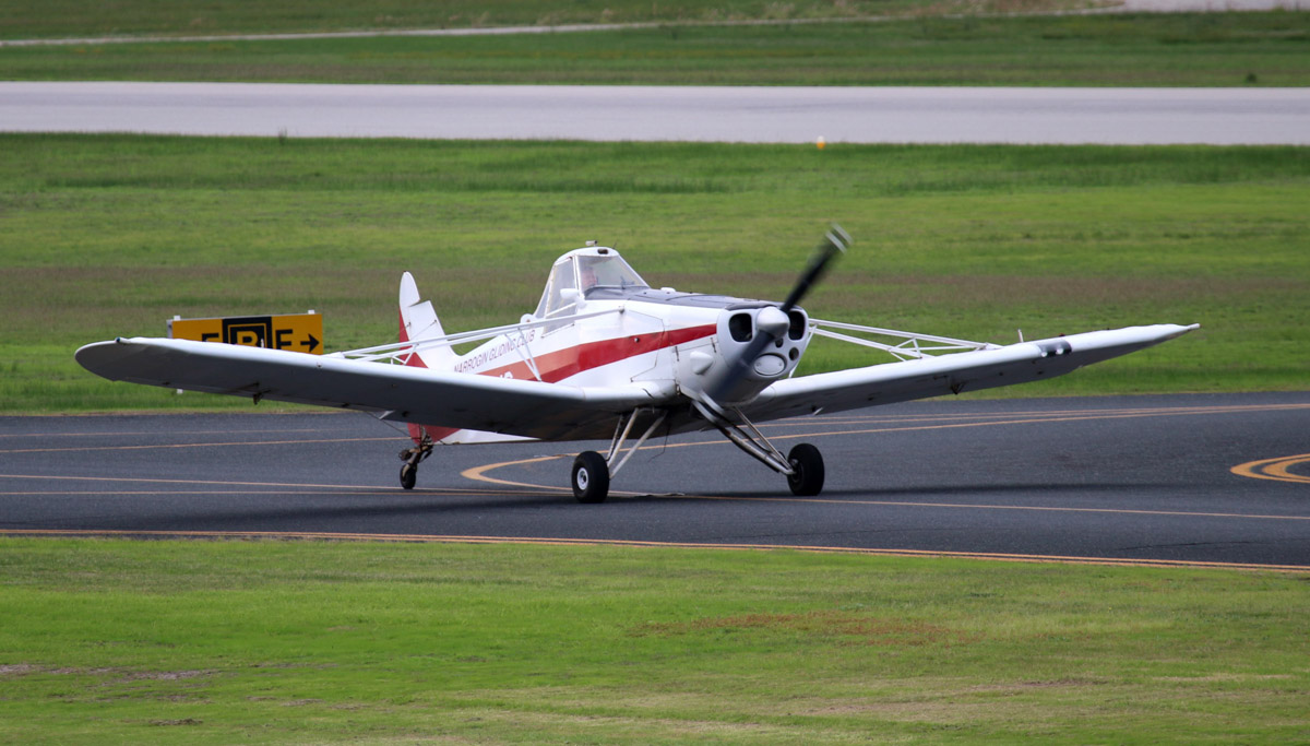 VH-TUG Piper PA-25-235 Pawnee 235 (MSN 25-2583) of Narrogin Gliding Club at Jandakot Airport - Sat 31 May 2014. Photo © Steve Jaksic