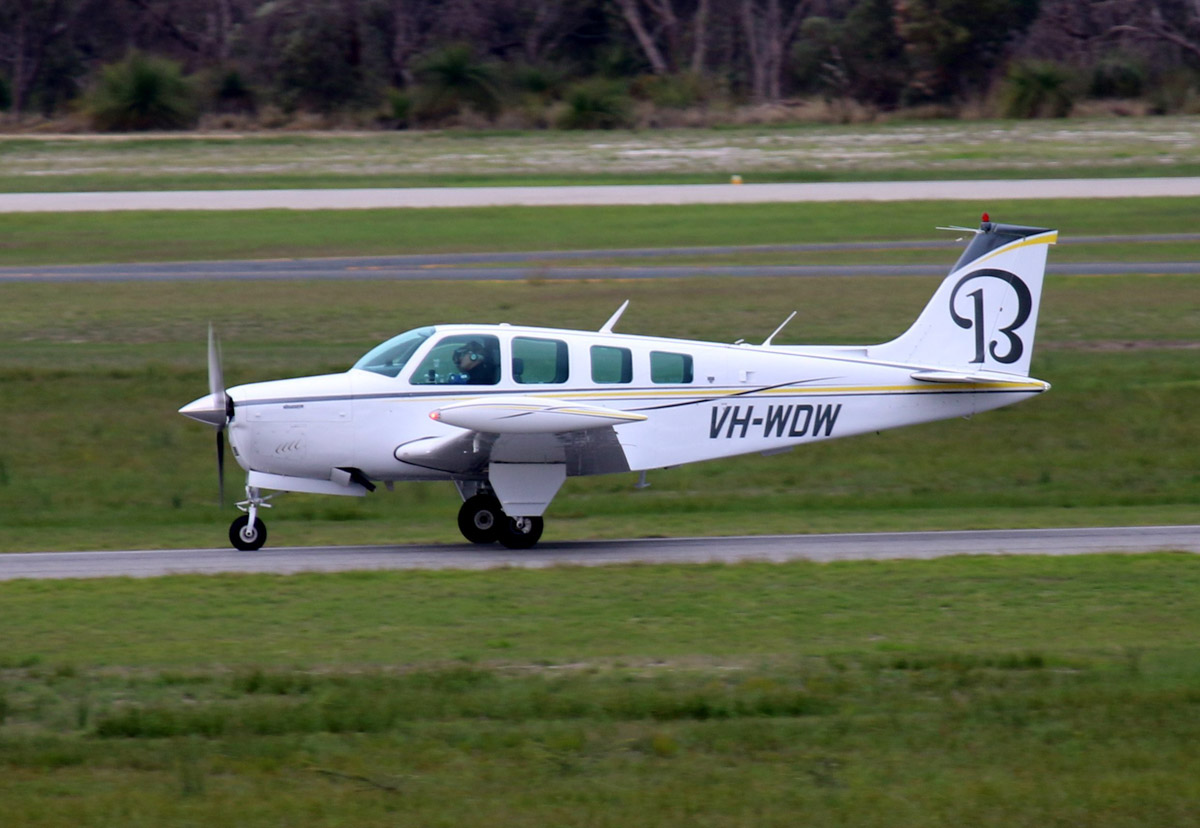 VH-WDW Beech Bonanza A36 (MSN E-1148) owned by Lawbax WA Pty Ltd, at Jandakot Airport - Sat 31 May 2014. Photo © Steve Jaksic