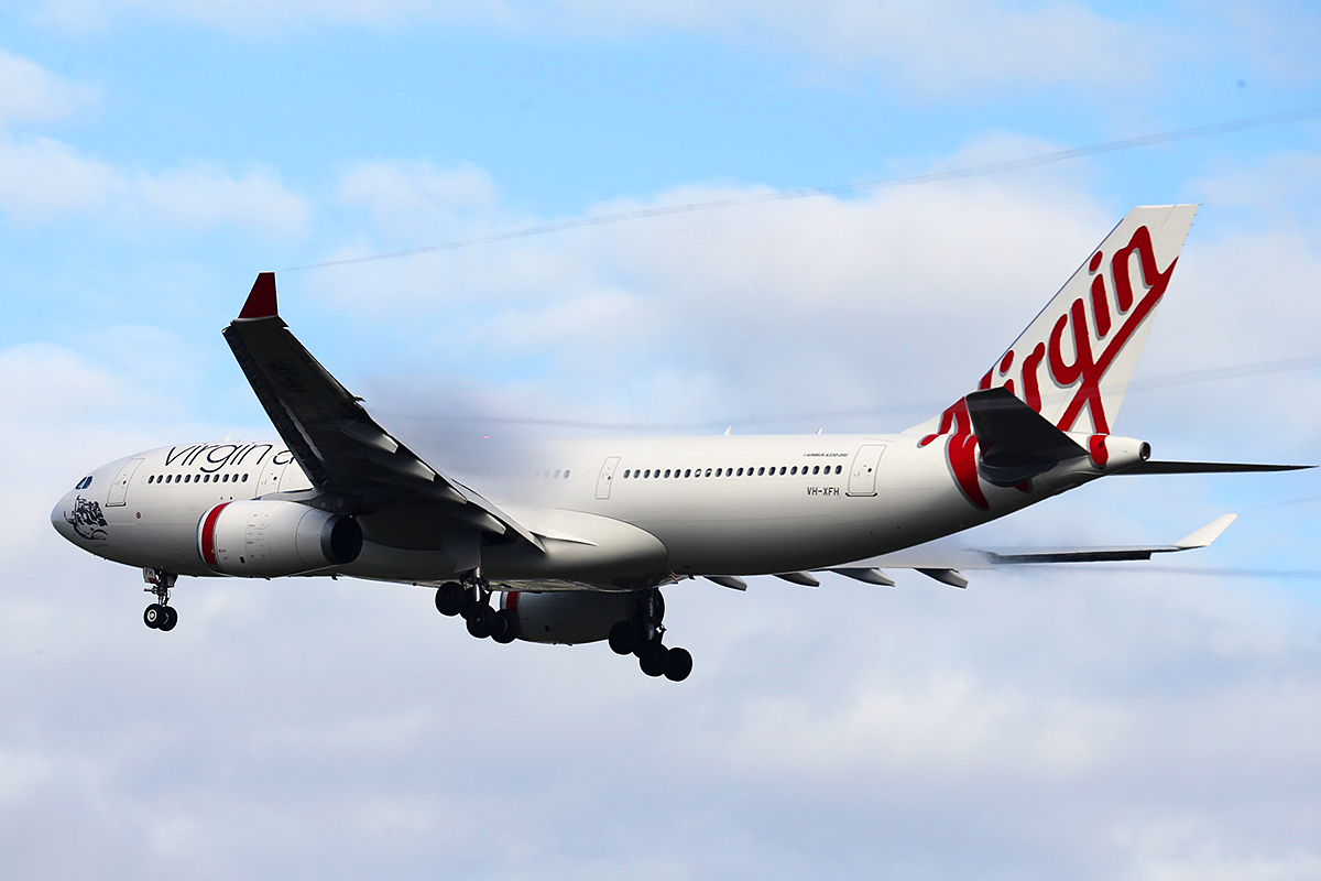 VH-XFH Airbus A330-243 (MSN 1452) of Virgin Australia at Perth Airport – 2 June 2014.