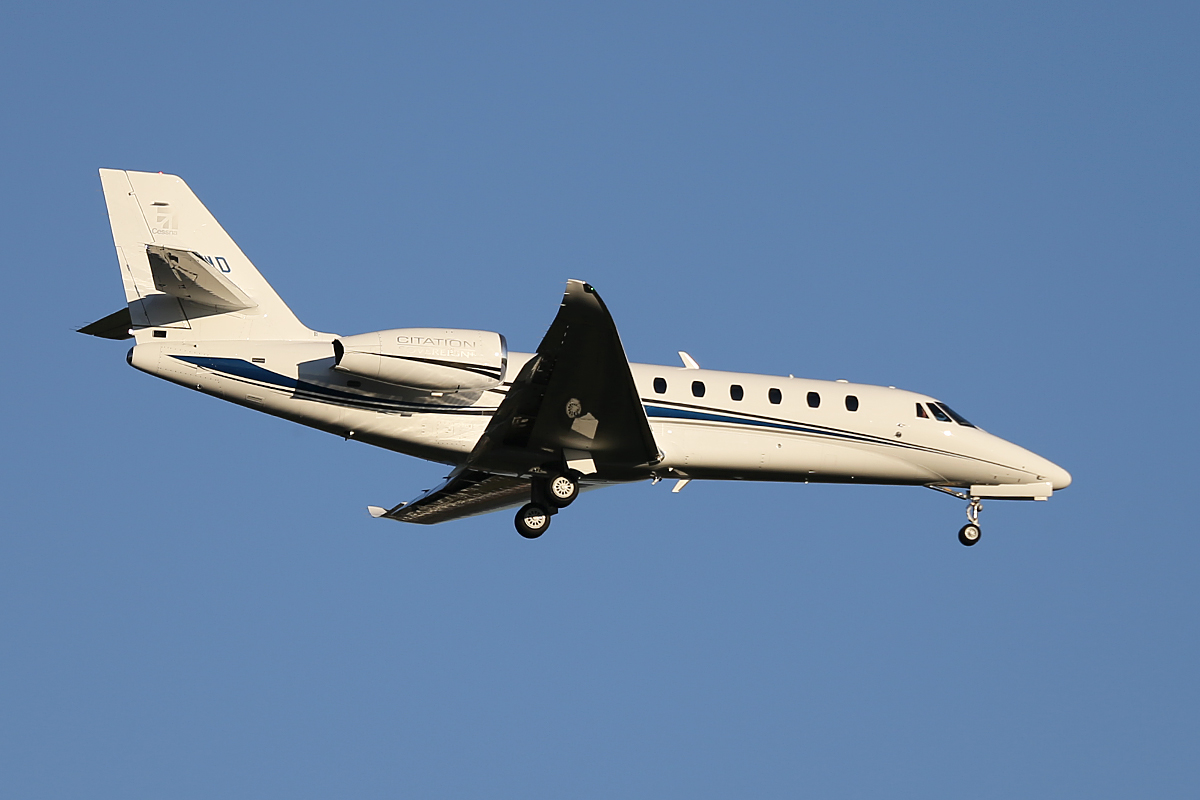N510WD Cessna 680 Sovereign (MSN 680-0510) at Perth Airport – Sat 14 June 2014