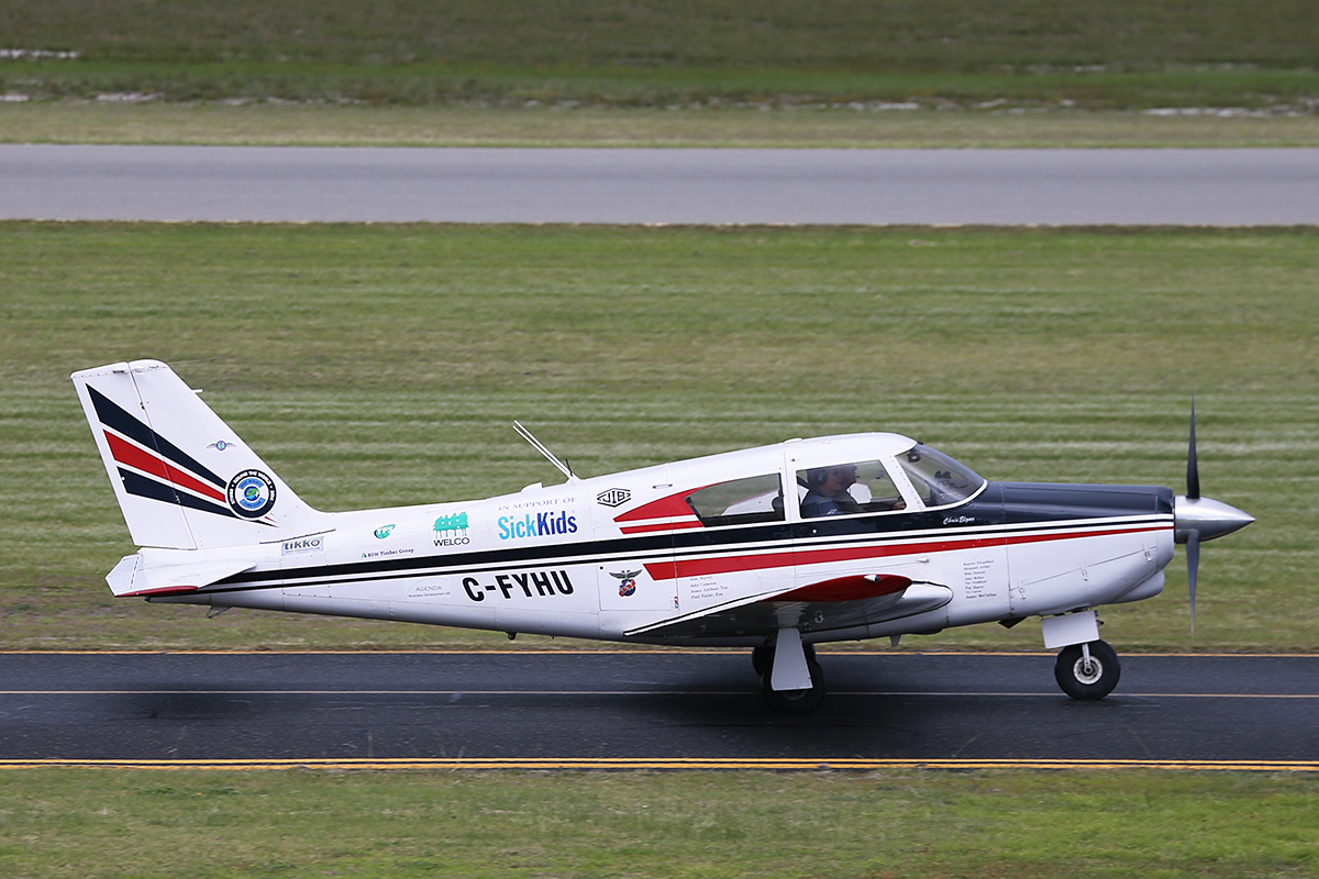 C-FYHU Piper Comanche at Jandakot Airport – 18 June 2014