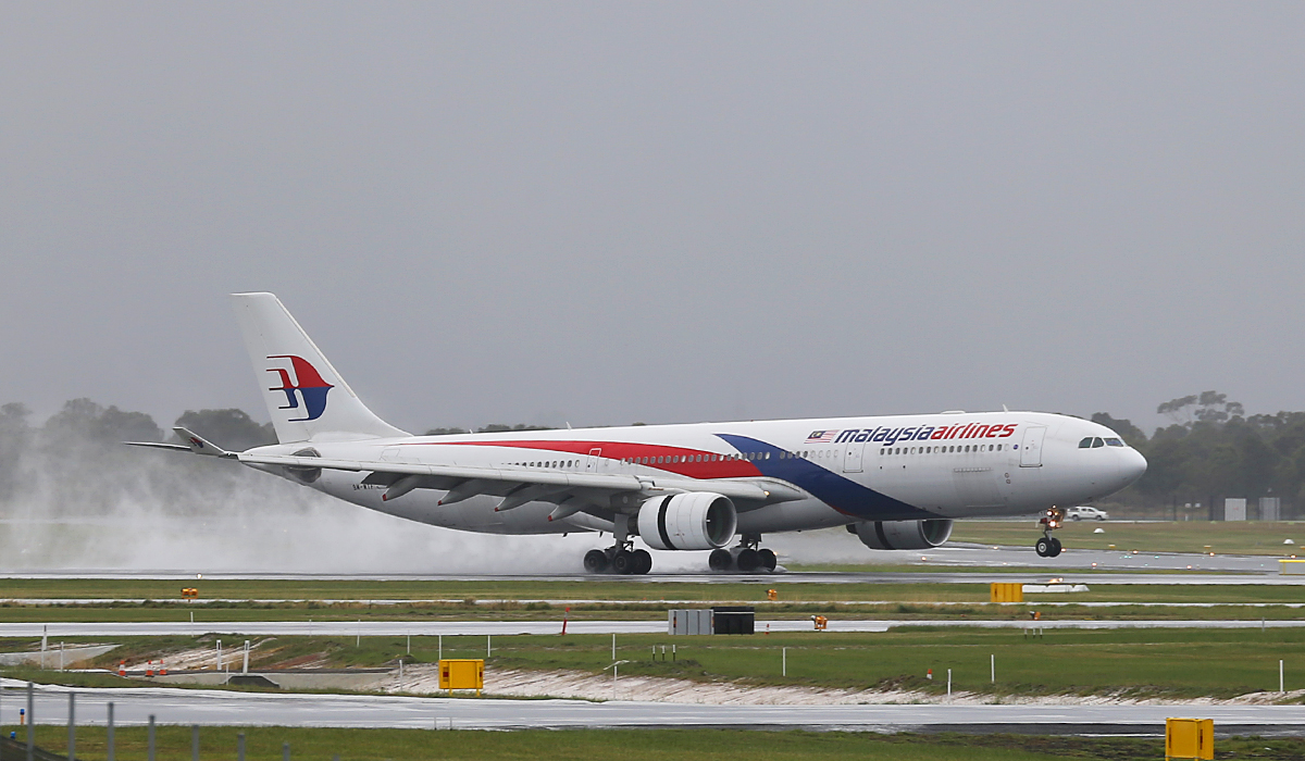 9M-MTF Airbus A330-323 (MSN 1281) of Malaysia Airlines at Perth Airport – Sat 21 June 2014
