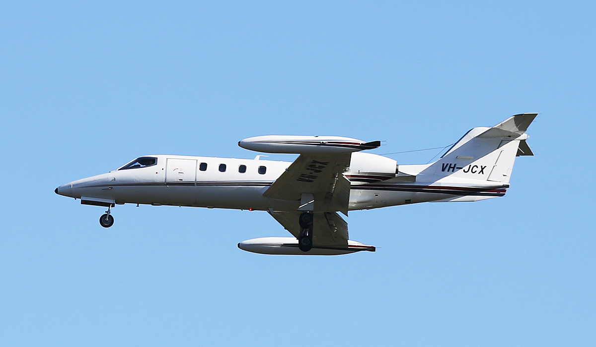 VH-JCX Learjet 36A (MSN 057) of Jet City Pty Ltd at Perth Airport – 3 July 2014