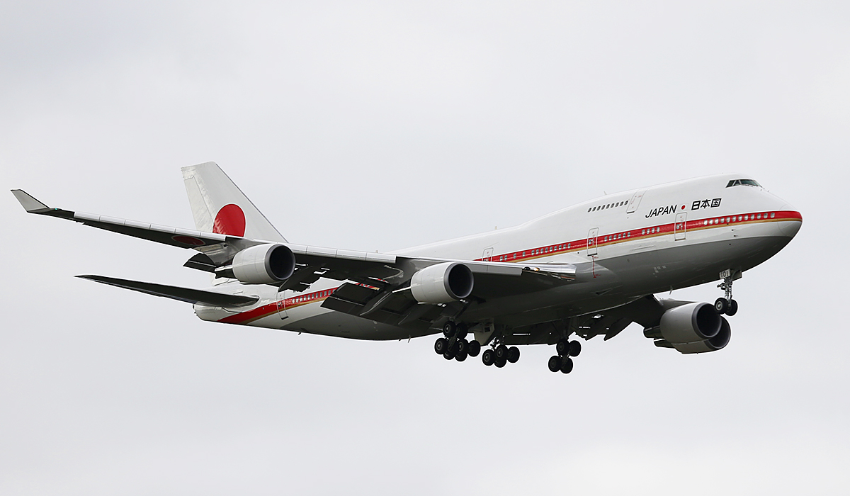 20-1101 Boeing 747-47C (MSN 24730) of Japan Air Self Defence Force at Perth Airport – 9 July 2014