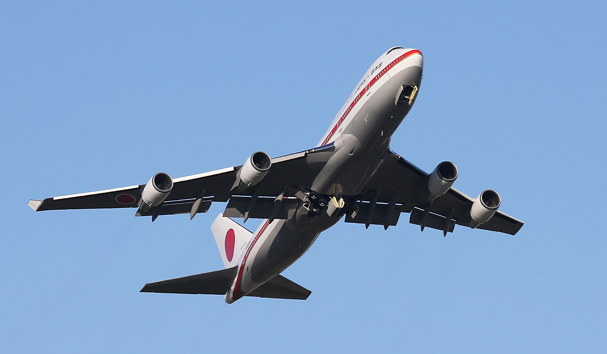 20-1102 Boeing 747-47C (MSN 24731) of Japan Air Self Defence Force at Perth Airport – 10 July 2014