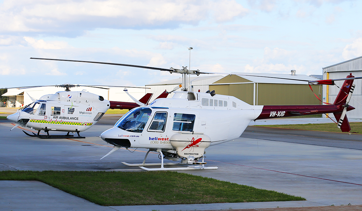 VH-VJG Bell 206B (II) Jet Ranger  (MSN 2169) owned by Heliwest Pty Ltd at Jandakot Airport – 11 July 2014