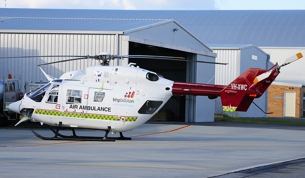 VH-XWC MBB BK117 B-2 of Heliwest at Jandakot Airport – 11 July 2014