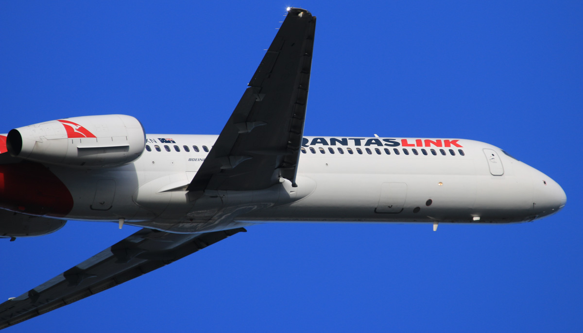VH-NXN Boeing 717-231 (MSN 55095/5087) of QantasLink, at Perth Airport - Wed 16 July 2014. Taking off from runway 21 at 16:04 as QJET 1930 to Broome. Photo © David Eyre