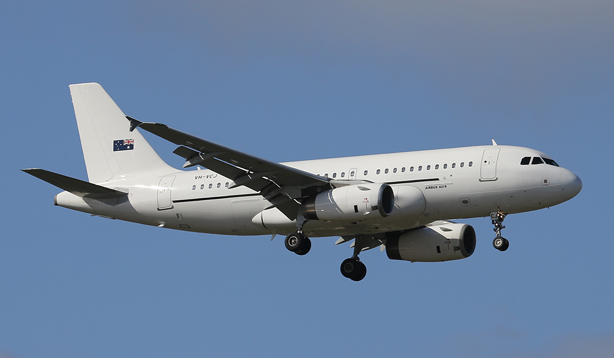 VH-VCJ Airbus A319-132 (MSN 1880) of Skytraders Pty Ltd at Perth airport - Wed 16 July 2014