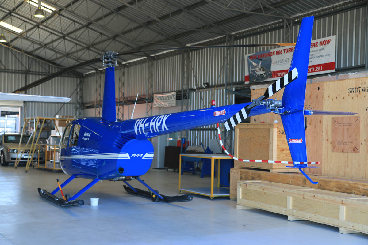 VH-HPX Robinson R44 Clipper II (MSN 11463) owned by Oakmore Holdings Pty Ltd, at Jandakot Airport – Fri 18 July 2014. Built in 2006. Photo © David Eyre