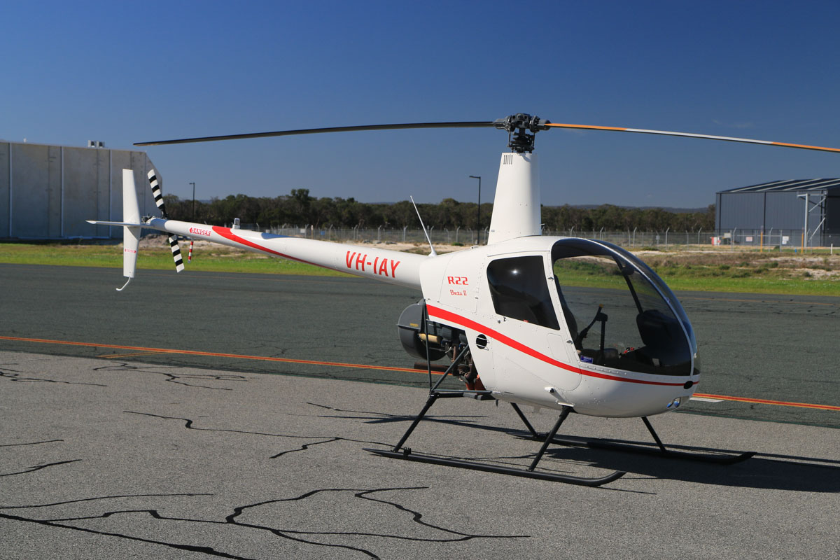 VH-IAY Robinson R22 Beta II (MSN 4642) owned by Heliflite Pty Ltd, at Jandakot Airport – Fri 18 July 2014. New aircraft, built in 2014, registered 20 May 2014. Photo © David Eyre