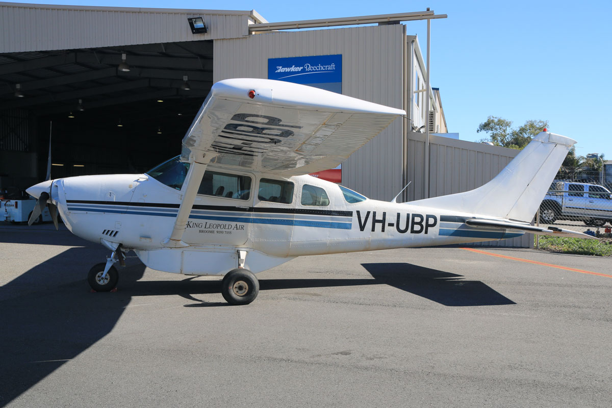 VH-UBP Cessna U206G Stationair (MSN U20603716) owned by King Leopold Air, of Broome, WA, at Jandakot Airport – Fri 18 July 2014. Built in 1977, ex VH-SFW, P2-MAX. Photo © David Eyre