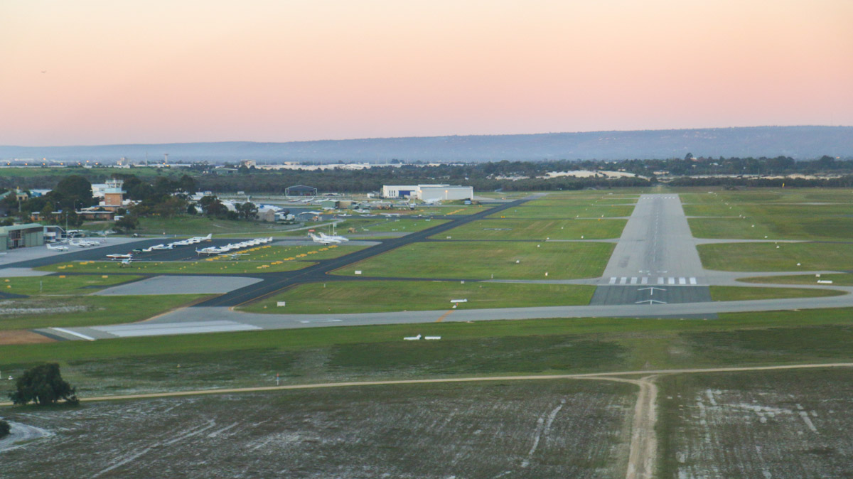 Approaching Runway 06L in VH-ICE Cirrus SR22 GTS (Gen 5) (MSN 4063) owned by Andrew Dean, at Jandakot Airport - Sun 3 August 2014. This Cirrus is brand new (built in 2014). Photo © David Eyre