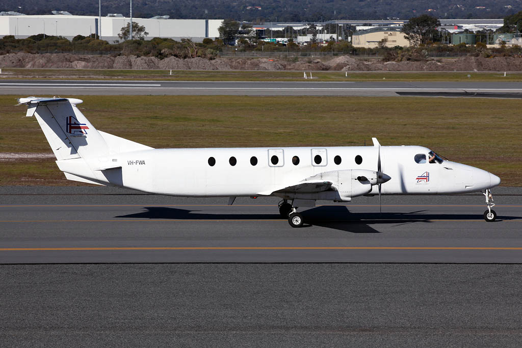 VH-FWA Beech 1900C (MSN UB-61) of Ad Astral Aviation Services Pty Ltd at Perth airport - Sun 3 Aug 2014
