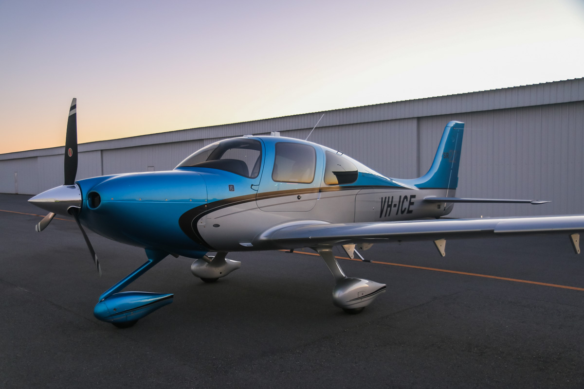 VH-ICE Cirrus SR22 GTS (Gen 5) (MSN 4063) owned by Andrew Dean, at Jandakot Airport – Sun 3 August 2014. This Cirrus is brand new (built in 2014). Photo © David Eyre