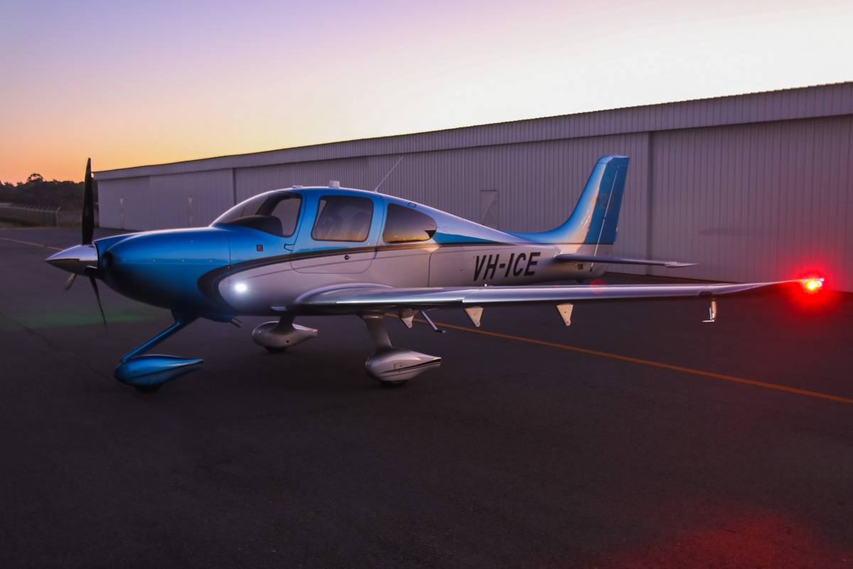 VH-ICE Cirrus SR22 GTS (Gen 5) (MSN 4063) owned by Andrew Dean, at Jandakot Airport – Sun 3 August 2014. This Jandakot-based Cirrus is brand new (built in 2014). Photo © David Eyre