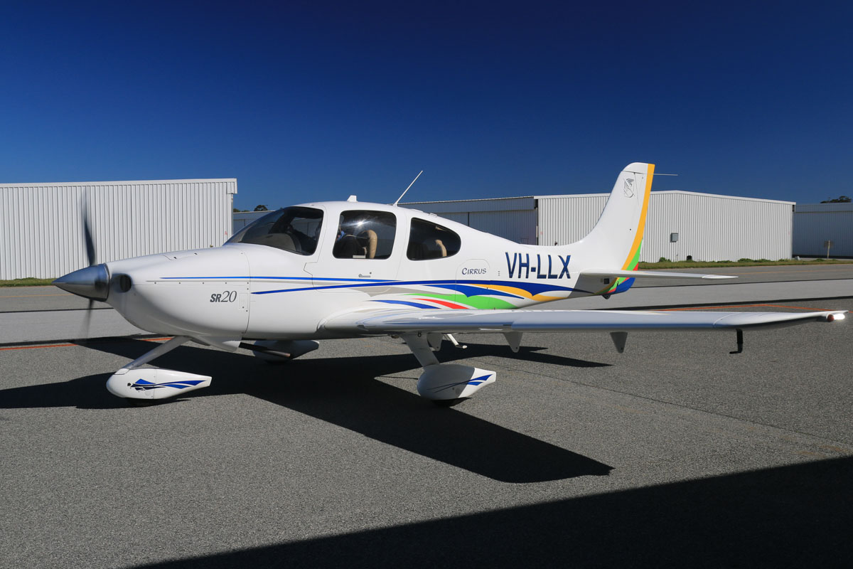 VH-LLX Cirrus SR20 (MSN 1389) owned by Bazdale Investments Pty Ltd, at Jandakot Airport - Sun 3 August 2014. Built in 2004, ex N81246, VH-MMG. Photo © David Eyre