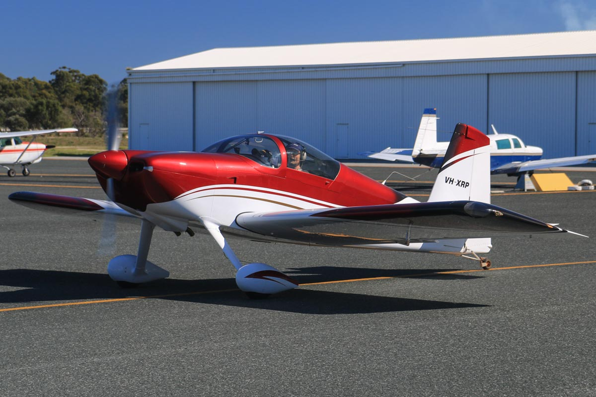 VH-XRP Vans RV-7 (MSN 73329) owned by Robert A Peters, at Jandakot Airport - Sun 3 August 2014. Built in 2010. This went up for a formation flight with VH-MXE Vans RV-7A. Photo © David Eyre