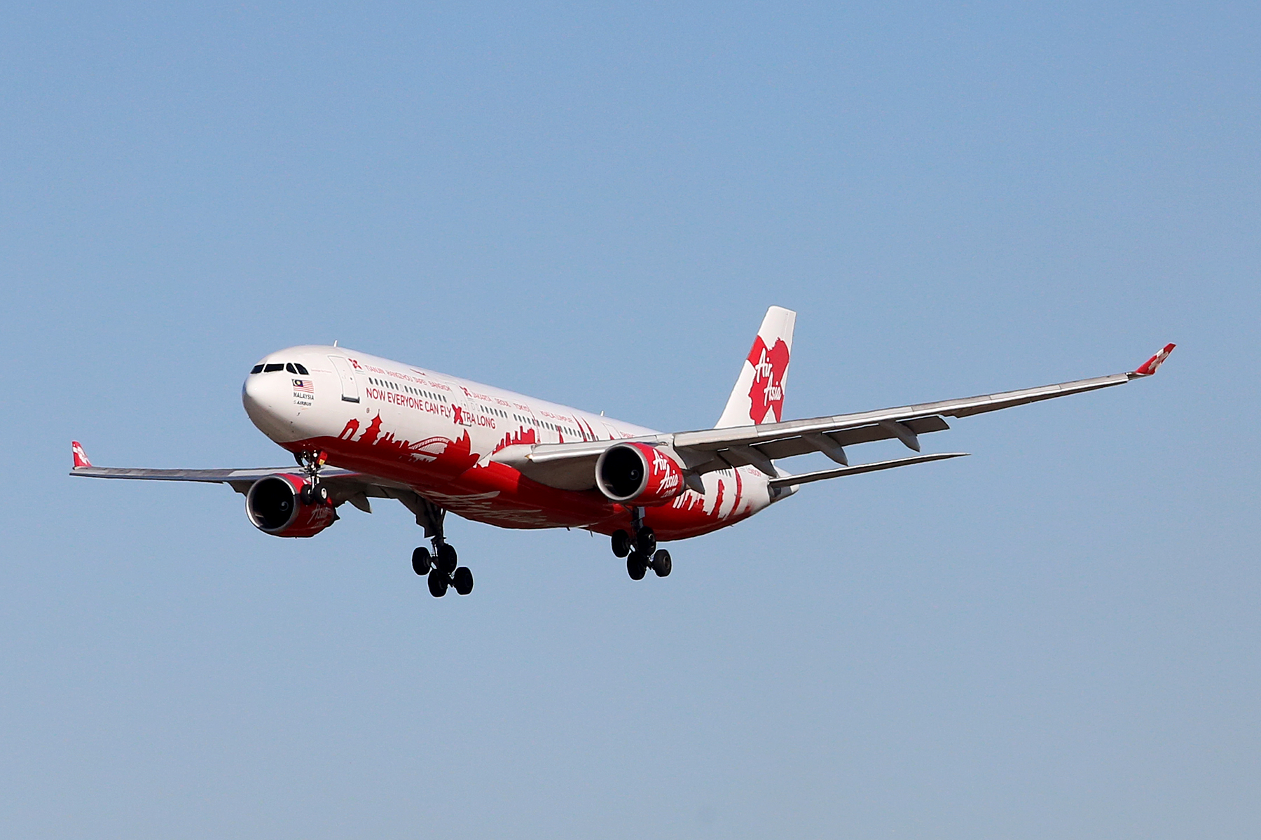 9M-XAA Airbus A330-301 (MSN 054) of Air Asia X in World Cities livery at Perth Airport – Mon 4 Aug 2014