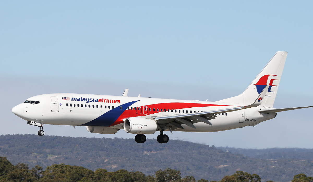 9M-MXM Boeing 737-8H6/W (MSN 40138) of Malaysia Airlines at Perth Airport – Wed 6 Aug 2014.