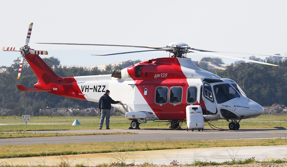 VH-NZZ Agusta Westland AW139 (MSN 31146) owned by Helicopters NZ, at Jandakot Airport - Fri 15 Aug 2014.