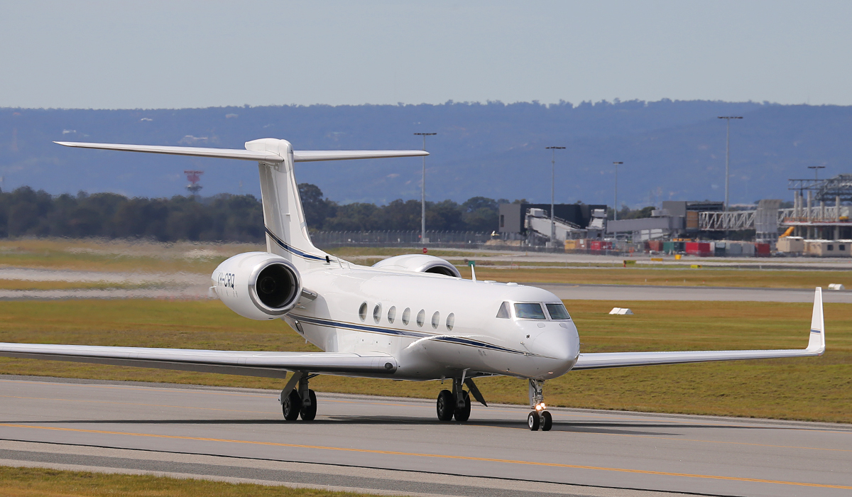 VH-CRQ Gulfstream Aerospace G.V (cn 603) owned by Crown Melbourne Ltd at Perth Airport – Sun 17 August 2014