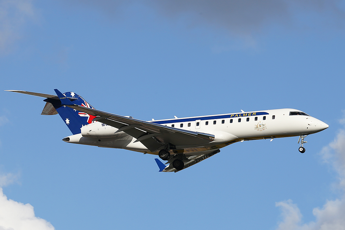 M-ATAR Bombardier BD-700-1A10 Global Express (MSN 9060) of Palmer Aviation Pty Ltd, at Perth Airport – Tues 19 Aug 2014.